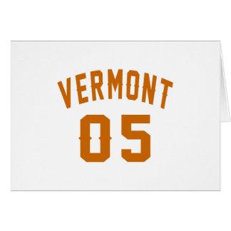 Vermont 05 Birthday Designs Card