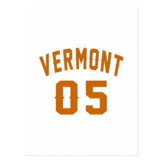 Vermont 05 Birthday Designs Postcard