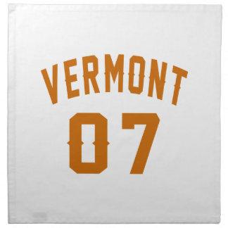 Vermont 07 Birthday Designs Napkin