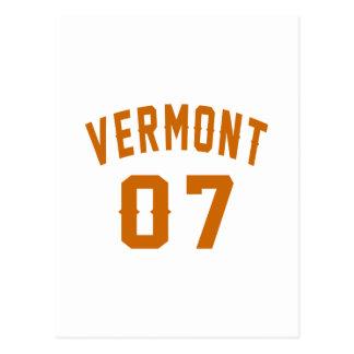 Vermont 07 Birthday Designs Postcard