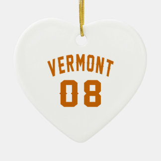 Vermont 08 Birthday Designs Ceramic Ornament