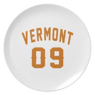Vermont 09 Birthday Designs Plate