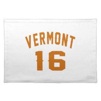 Vermont 16 Birthday Designs Placemat