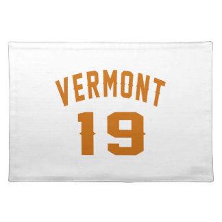 Vermont 19 Birthday Designs Placemat