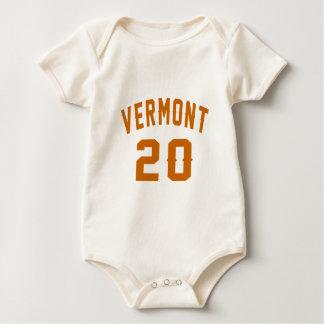Vermont 20 Birthday Designs Baby Bodysuit