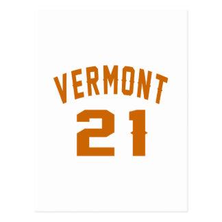 Vermont 21 Birthday Designs Postcard