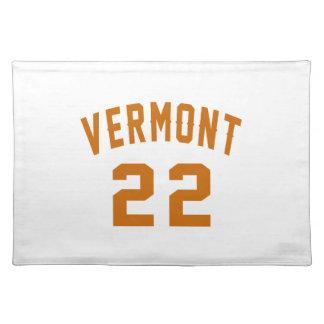Vermont 22 Birthday Designs Placemat