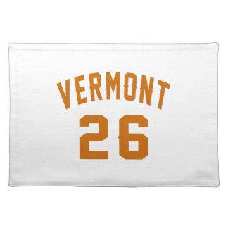 Vermont 26 Birthday Designs Placemat