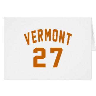 Vermont 27 Birthday Designs Card