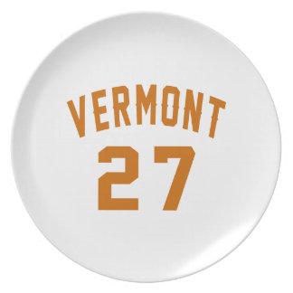 Vermont 27 Birthday Designs Plate
