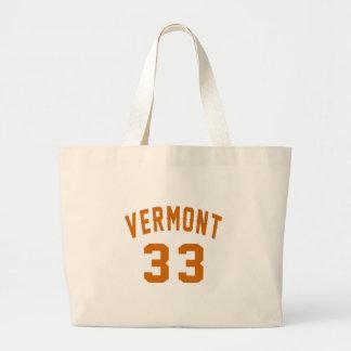 Vermont 33 Birthday Designs Large Tote Bag