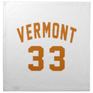 Vermont 33 Birthday Designs Napkin