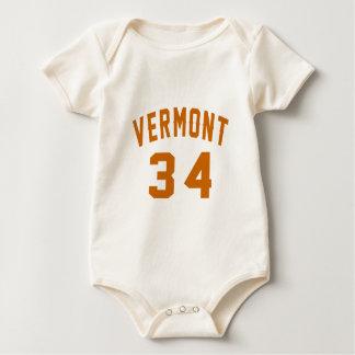 Vermont 34 Birthday Designs Baby Bodysuit