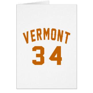 Vermont 34 Birthday Designs Card