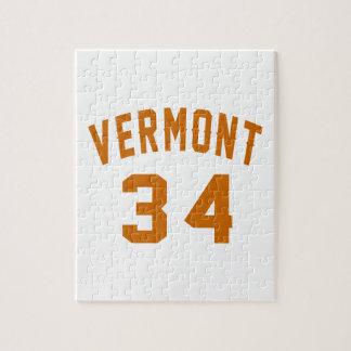 Vermont 34 Birthday Designs Jigsaw Puzzle