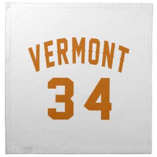 Vermont 34 Birthday Designs Napkin