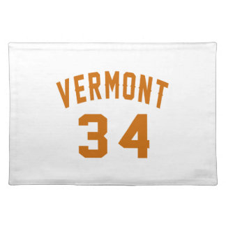 Vermont 34 Birthday Designs Placemat