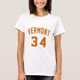 Vermont 34 Birthday Designs T-Shirt