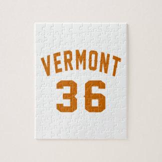 Vermont 36 Birthday Designs Jigsaw Puzzle