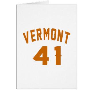 Vermont 41 Birthday Designs Card