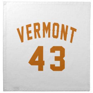 Vermont 43 Birthday Designs Napkin