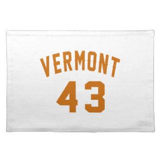 Vermont 43 Birthday Designs Placemat