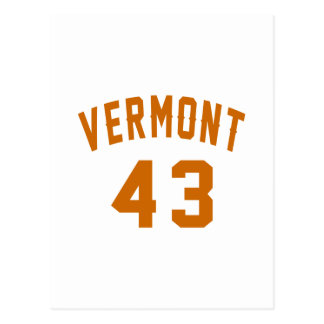 Vermont 43 Birthday Designs Postcard