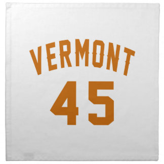 Vermont 45 Birthday Designs Napkin
