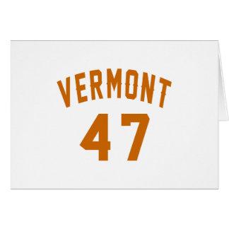 Vermont 47 Birthday Designs Card