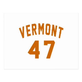 Vermont 47 Birthday Designs Postcard