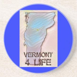 """Vermont 4 Life"" State Map Pride Design Coaster"