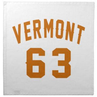 Vermont 63 Birthday Designs Napkin