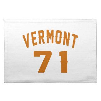 Vermont 71 Birthday Designs Placemat