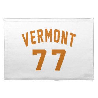 Vermont 77 Birthday Designs Placemat