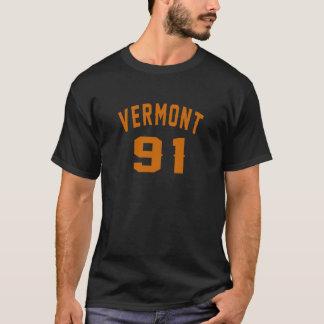 Vermont 91 Birthday Designs T-Shirt