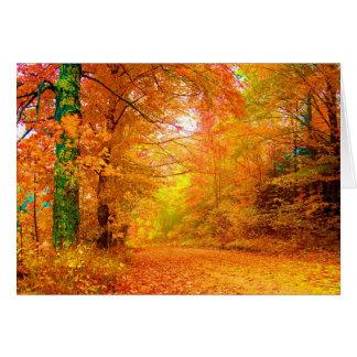 Vermont Autumn Nature Fine Landscape Card