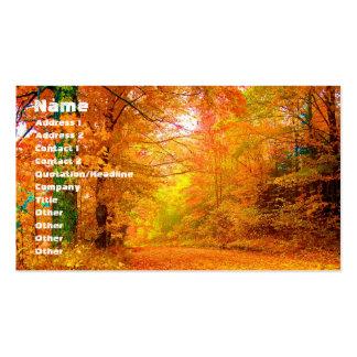 Vermont Autumn Nature Landscape Business Card Templates