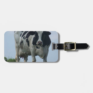 Vermont  Black and White Dairy Cow Luggage Tag