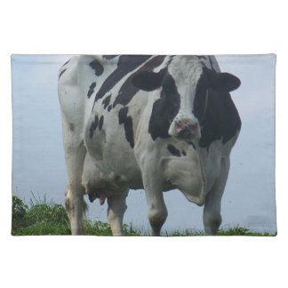 Vermont  Black and White Dairy Cow Placemat