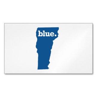 VERMONT BLUE STATE MAGNETIC BUSINESS CARDS
