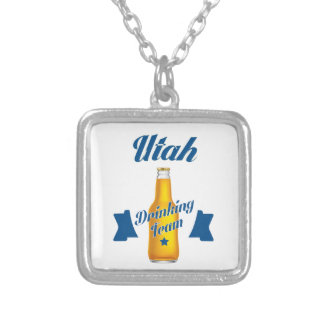 Vermont Drinking team Silver Plated Necklace