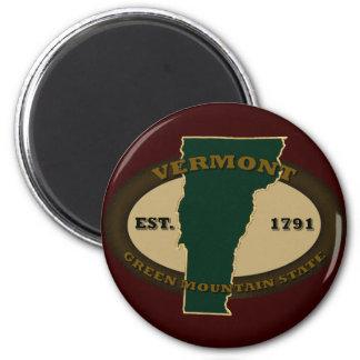 Vermont Est 1791 6 Cm Round Magnet