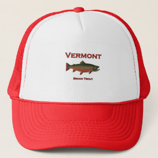 Vermont Fishing - Brook Trout Trucker Hat