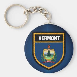 Vermont Flag Key Ring