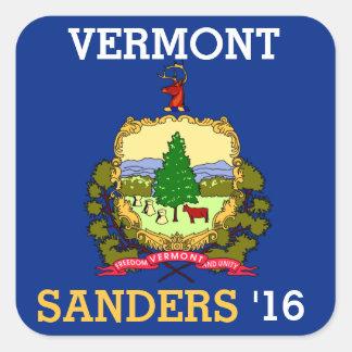Vermont for Bernie Sander for President 2016 Square Sticker
