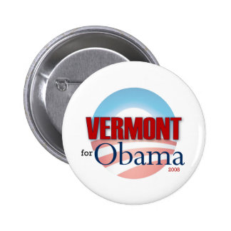 VERMONT for Obama 6 Cm Round Badge