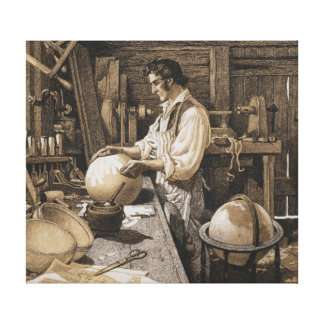 Vermont Globe Maker 1900 Stretched Canvas Print