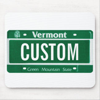 Vermont green mountain license plate mouse pad