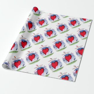 Vermont head heart, tony fernandes wrapping paper
