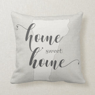 Vermont - Home Sweet Home burlap-look Cushion